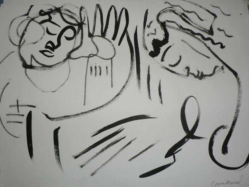 dessin de 2 personne qui s'embrasse
