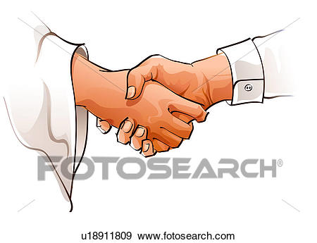 dessin de 2 personnes qui se serrent la main