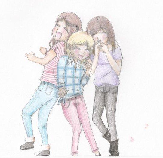 Dessin De 3 Meilleures Amies Les Dessins Et Coloriage