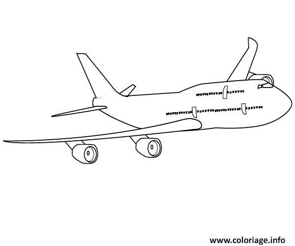 dessin de boeing 747