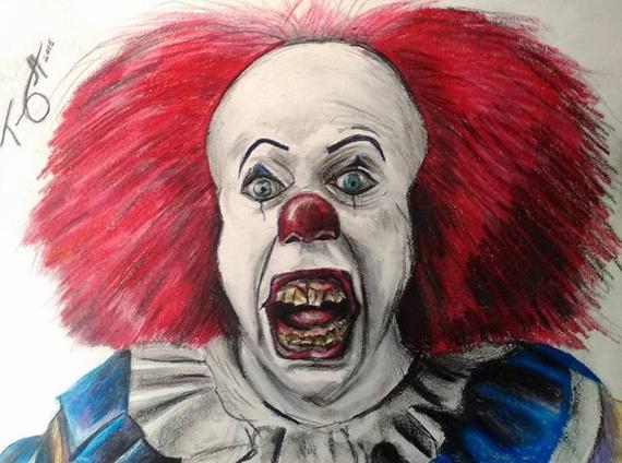 dessin de ca le clown tueur - Les dessins et coloriage