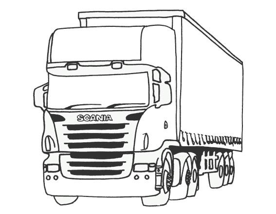 dessin de camion - Les dessins et coloriage