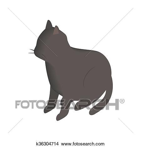 dessin de chat 3d