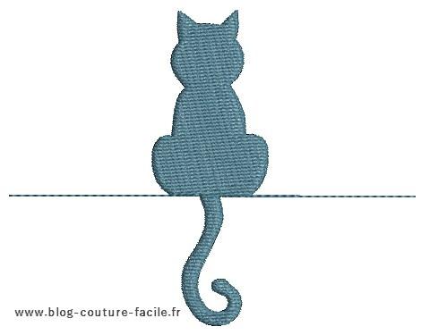 dessin de chat a broder