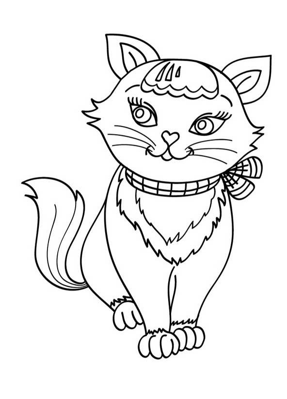 dessin de chat a colorier et imprimer