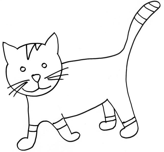 dessin de chat a decouper