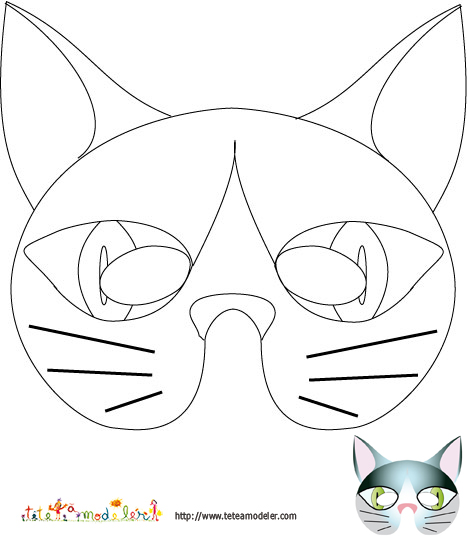 dessin de chat a imprimer