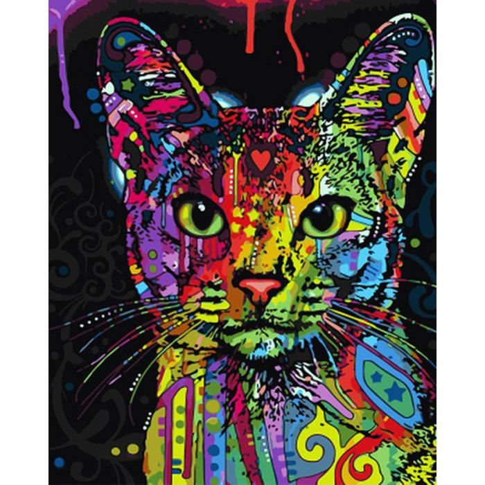 dessin de chat a peindre