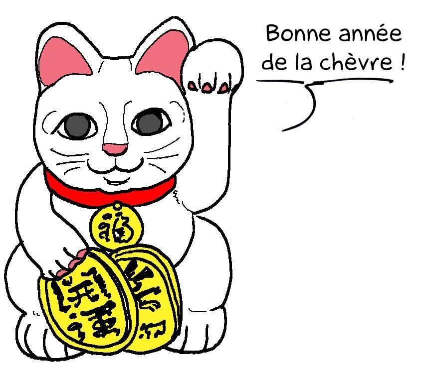 Coloriage Chat Porte Bonheur.Dessin De Chat Chinois Les Dessins Et Coloriage