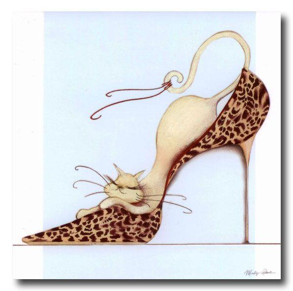 dessin de chat dans une chaussure