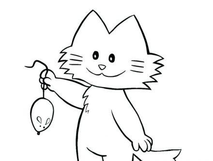 dessin de chat dans une tasse