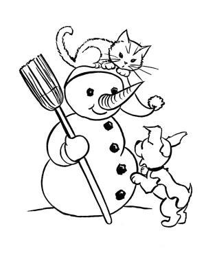 dessin de chat de noel