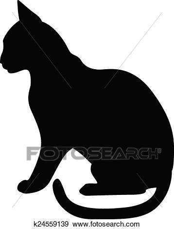 dessin de chat de profil