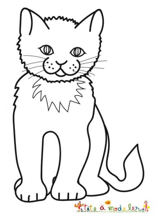 dessin de chat debout