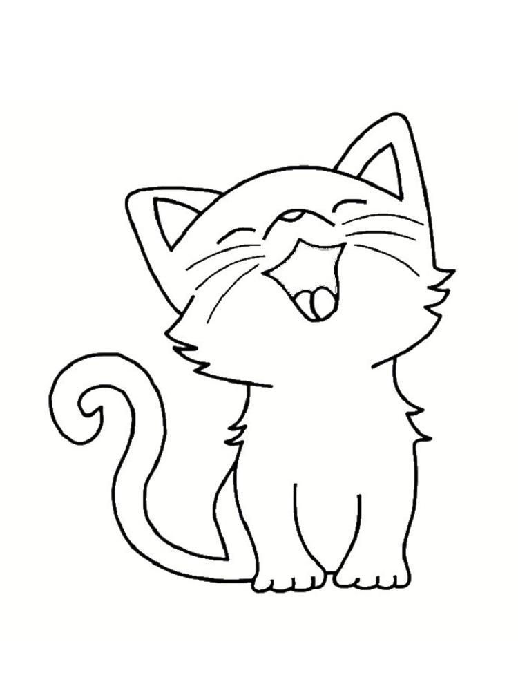 dessin de chat facile a imprimer gratuit - Les dessins et coloriage
