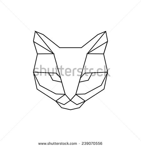 dessin de chat geometrique
