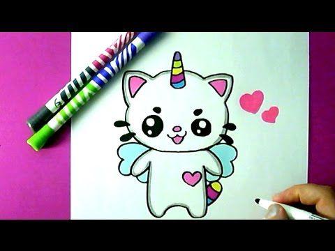 dessin de chat licorne - Les dessins et coloriage