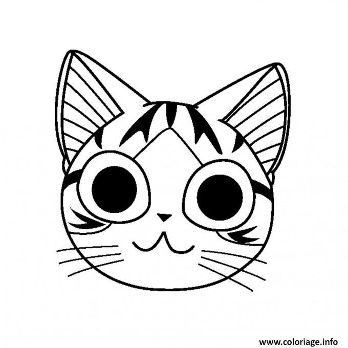 dessin de chat manga facile