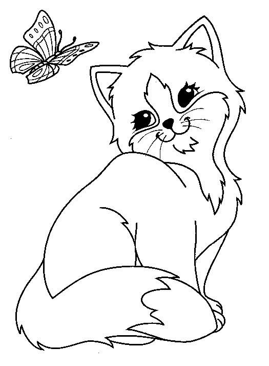 dessin de chat mignon a imprimer