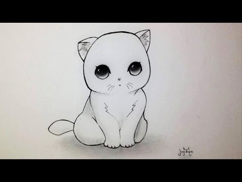 dessin de chat mignon kawaii