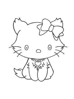 dessin de chat mimi , Les dessins et coloriage