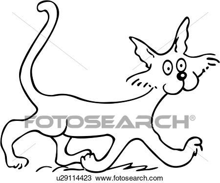 dessin de chat minou