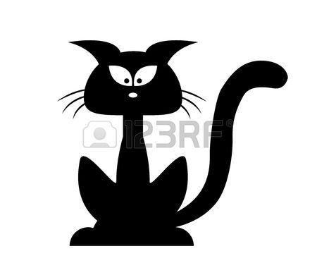 dessin de chat noir d'halloween