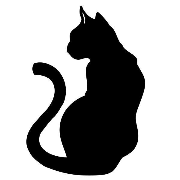 dessin de chat noir