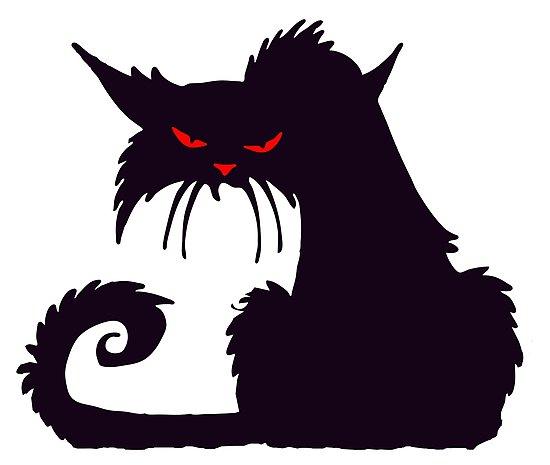 dessin de chat noir - Les dessins et coloriage