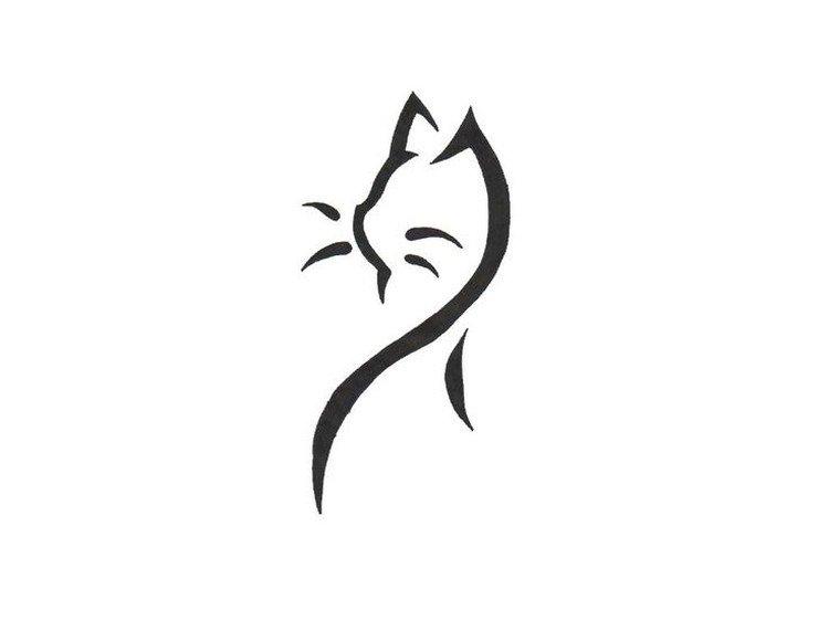 Dessin De Chat Pour Tatouage Les Dessins Et Coloriage