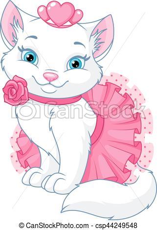 dessin de chat princesse