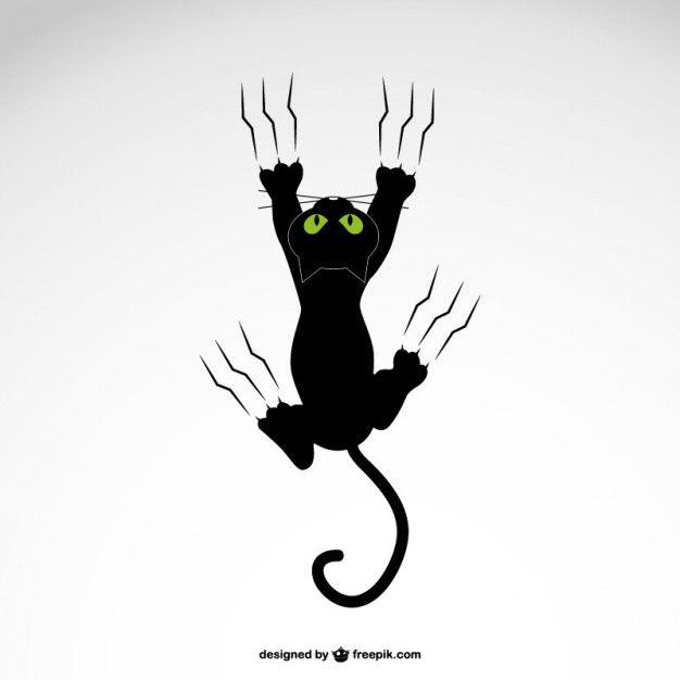 dessin de chat qui griffe