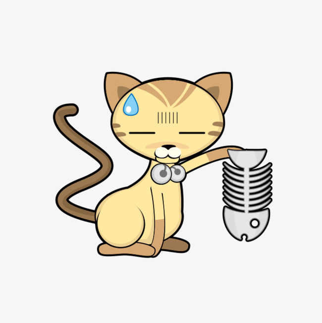 dessin de chat qui mange
