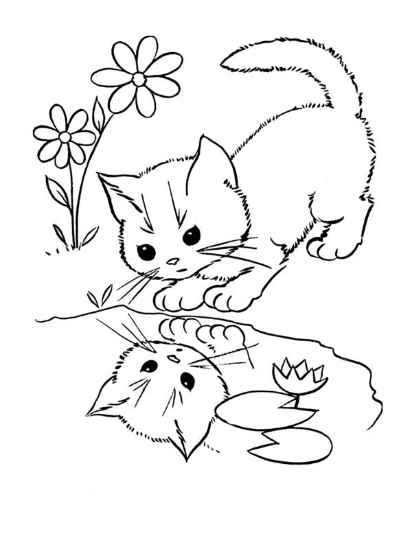 dessin de chat rigolo a imprimer