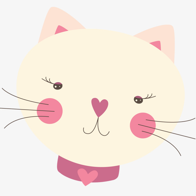 dessin de chat rose