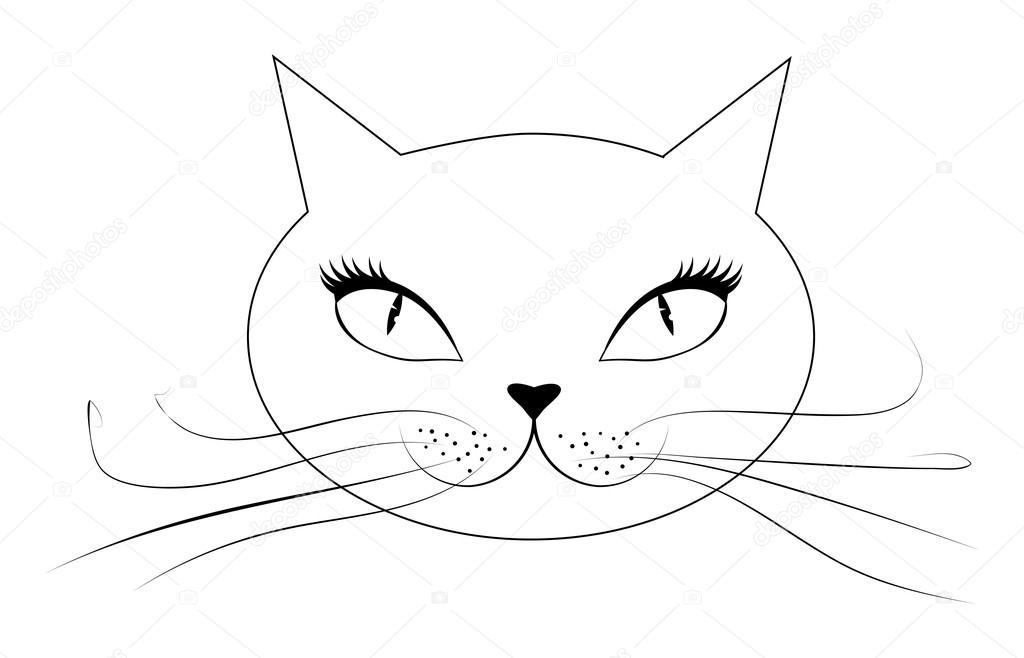 dessin de chat visage