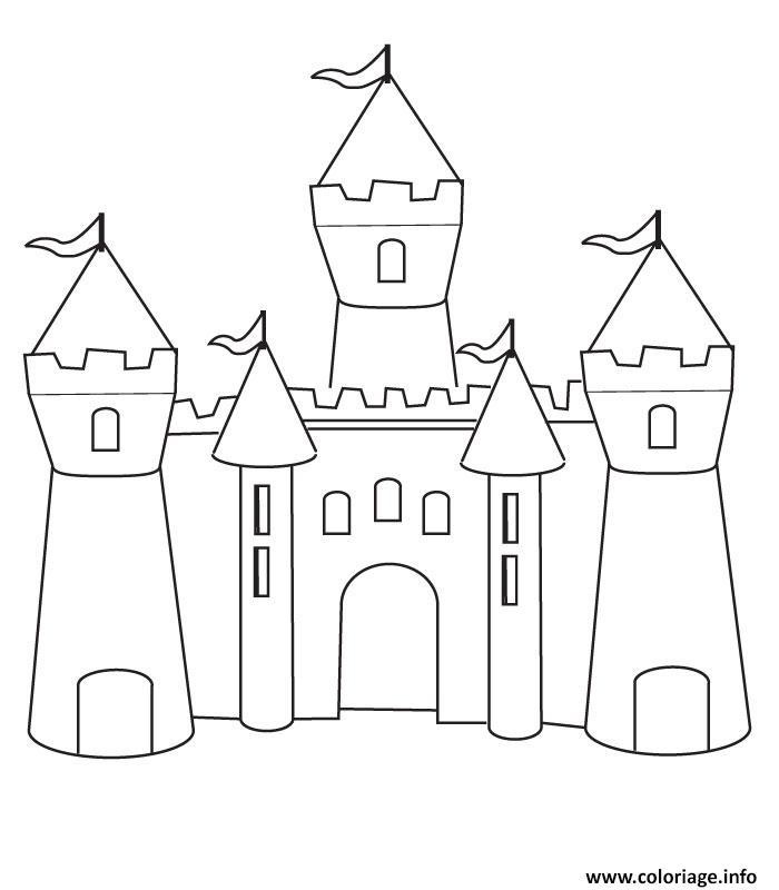 Dessin De Chateau Les Dessins Et Coloriage