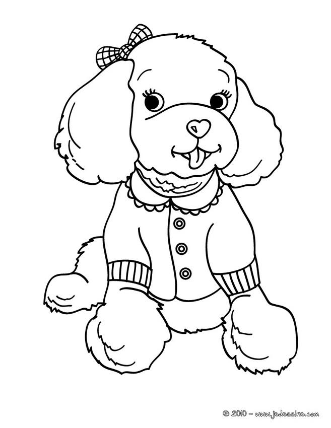 dessin de chien a colorier