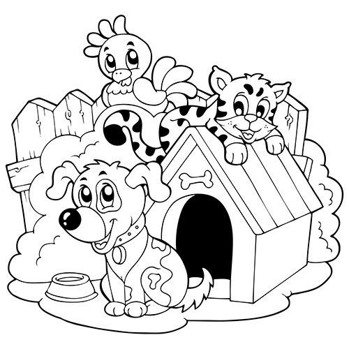 dessin de chien a imprimer gratuit