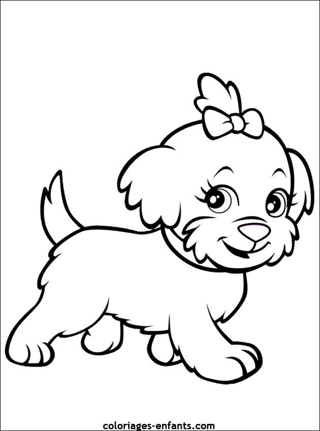 dessin de chien a imprimer