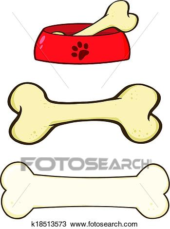 dessin de chien avec os