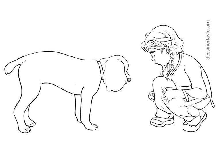 dessin de chien couche