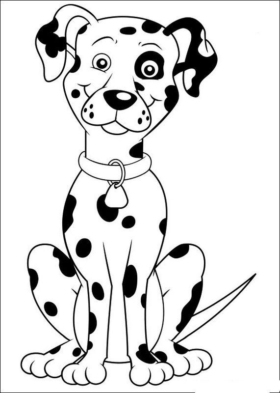 dessin de chien dalmatien facile