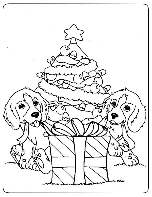 dessin de chien de noel