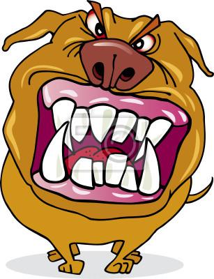 dessin de chien enrage