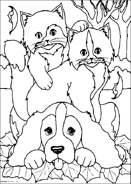 dessin de chien et chat mignon