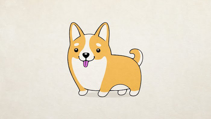 dessin de chien facile kawaii
