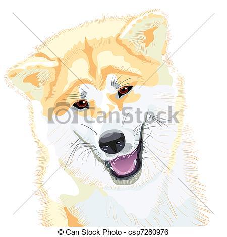 dessin de chien japonais
