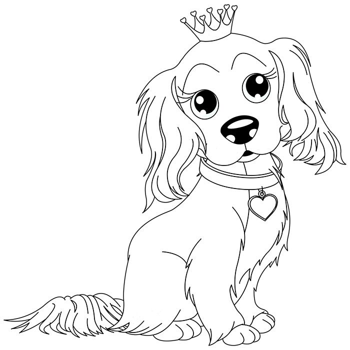 dessin de chien kawaii a imprimer - Les dessins et coloriage