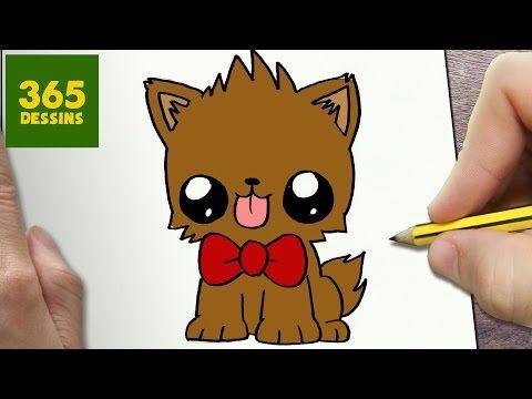 dessin de chien kawaii facile